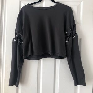 Zara cropped long sleeve top
